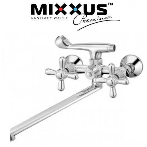 Смеситель для ванны длинный нос Mixxus Premium Dominox Euro (Chr-140)