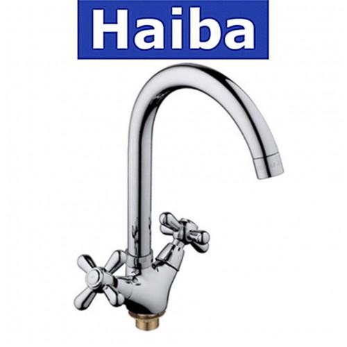 Смеситель для кухни на гайке HAIBA DOMINOX (Chr-275)