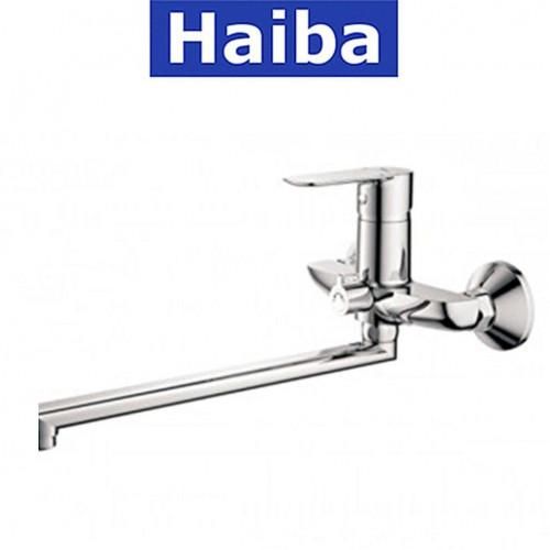 Смеситель для ванны длинный нос HAIBA ASIO EURO (Chr-006)