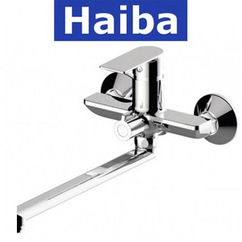 Смеситель для ванны длинный нос HAIBA ALEX EURO (Chr-006)