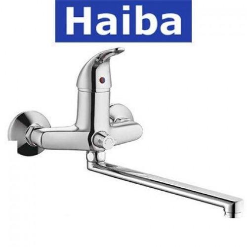 Смеситель для ванны длинный нос HAIBA VIOLET EURO (Chr-006)