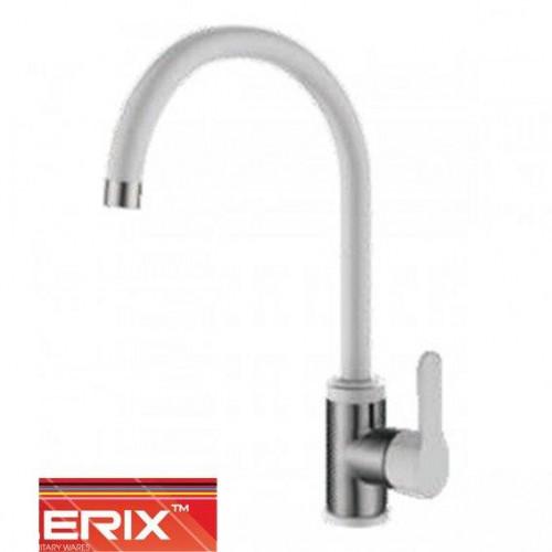 Смеситель для кухни Ухо Zerix LR74105W White (белый+нержавейка)
