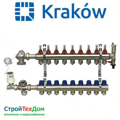 Коллектор для теплого пола KRAKOW на 9 контуров (ПОЛЬША)