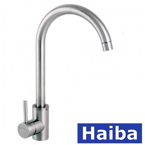 Смеситель для кухни Ухо HAIBA Sus 011 из нержавеющей стали