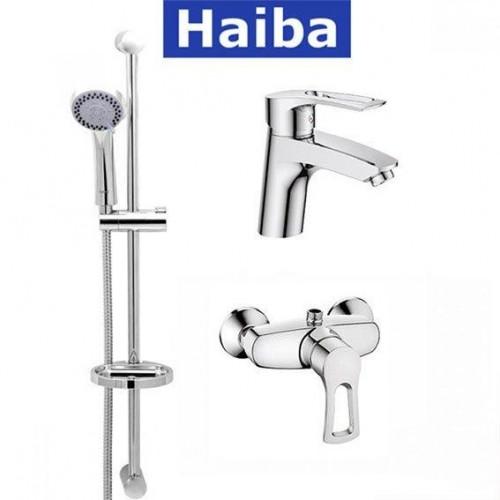 Комплект в ванную комнату HAIBA Hansberg Set-2 (умывальник, душкабина, душевая стойка)