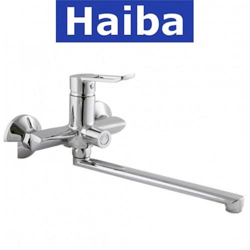 Смеситель для ванны длинный нос HAIBA ADEL EURO (Chr-006)
