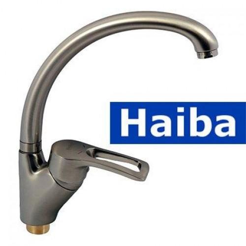 Смеситель для кухни Ухо на гайке HAIBA Hansberg RS-777 (nut) Нержавейка