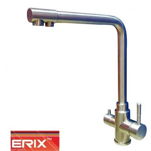 Смеситель для кухни Ухо ZERIX LR 4355-3 с дополнительным краном под осмос (нержавейка)