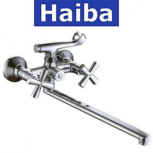Смеситель для ванны длинный нос HAIBA SENTOSA Chr-006 (EURO)