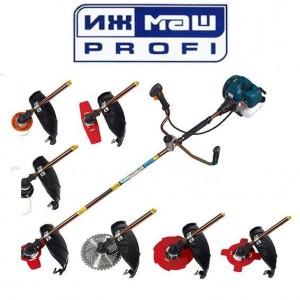 Бензокоса Ижмаш Profi БК-4300 (5 ножей (40Т победит, 2Т,3Т,4Т,8Т) и 2 катушки-леска) 28 штанга