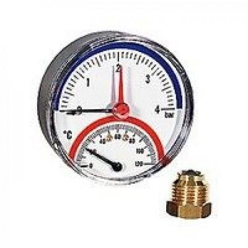 Термоманометр Giacomini. 20° ÷ 120°C. 0 ÷ 4 bar