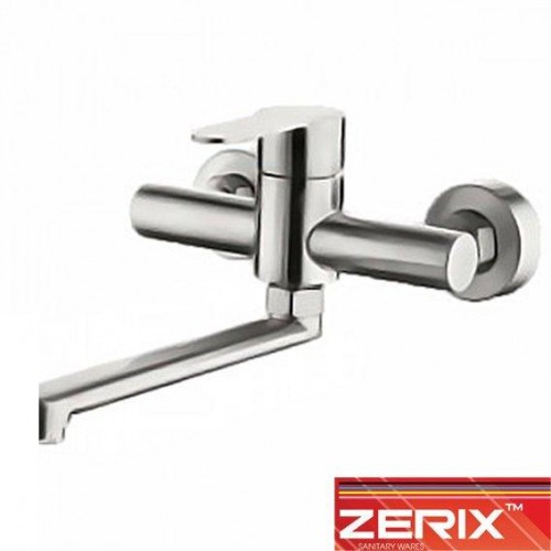 Смеситель для кухни от стены Zerix LR74603 (нержавейка)