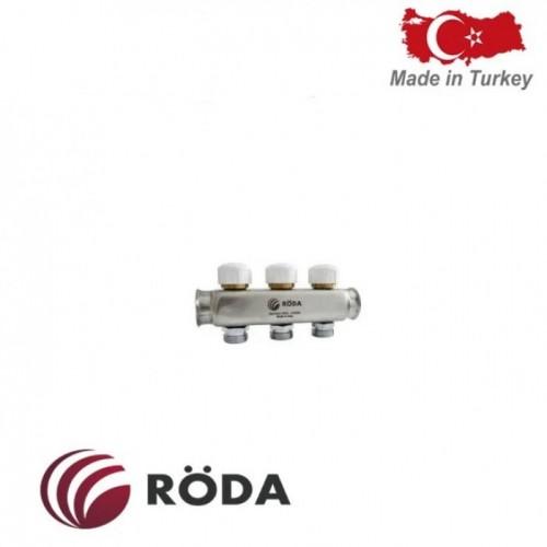 Коллектор распределительный Roda с термоклапаном 4 выхода