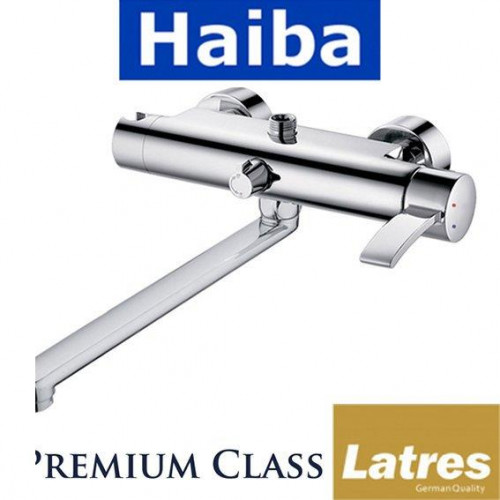 Смеситель для ванны длинный нос HAIBA LATRES ALASKA (Chr-006)