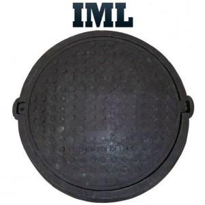 Смотровой (канализационный) люк полимер-песчаный черный до 12,5т 630/770