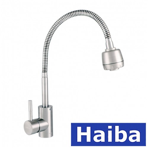 Смеситель для кухни Ухо HAIBA Sus 011 рефлекторный излив из нержавеющей стали