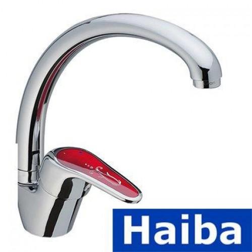 Смеситель для кухни Ухо HAIBA MAGIC RED (Chr-011)