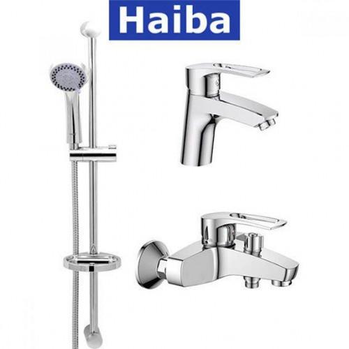 Комплект в ванную комнату HAIBA Hansberg Set-1 (умывальник, ванна короткая, душевая стойка)