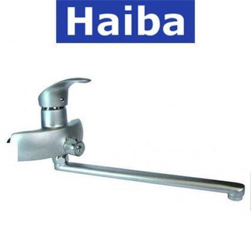 Смеситель для ванны длинный нос HAIBA MARS SATIN Chr-006 (euro)