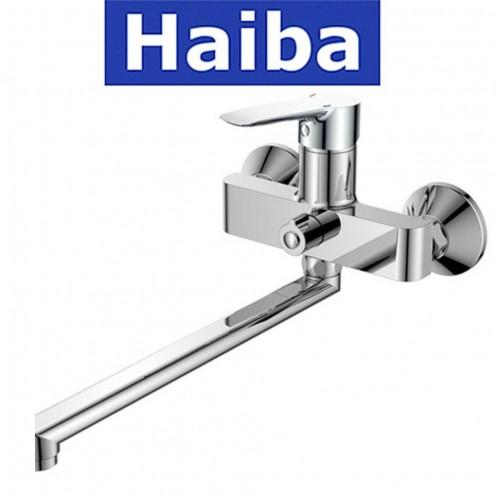 Смеситель для ванны длинный нос HAIBA Columbia EURO (Chr-006)