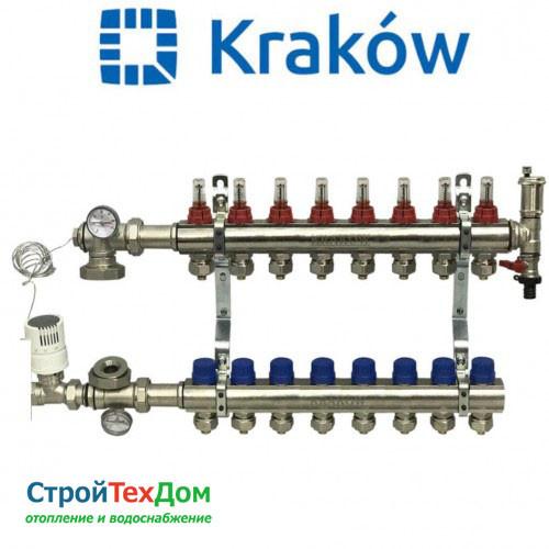 Коллектор для теплого пола KRAKOW на 8 контуров (ПОЛЬША)