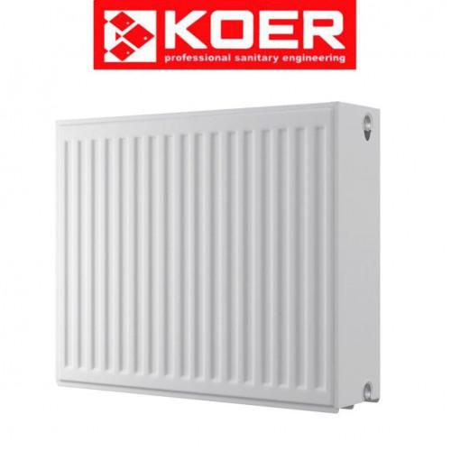 Стальные радиаторы Koer 33 тип 500*1100 Чехия (боковое подключение)