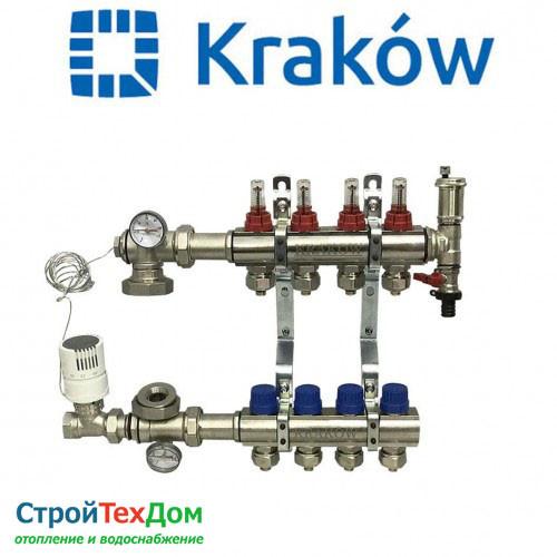 Коллектор для теплого пола KRAKOW на 4 контура (ПОЛЬША)