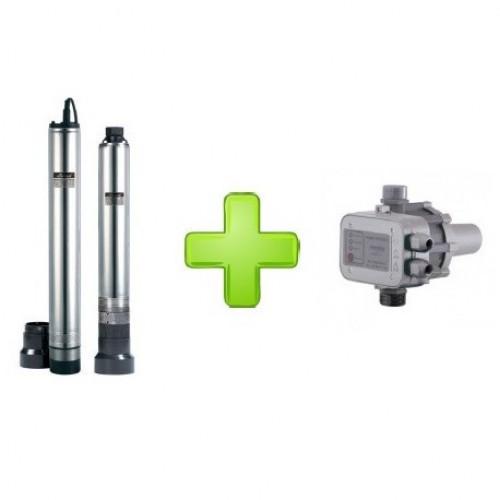 Скважинный насос Sprut 4SCM 40 + Контроллер  давления EPS-II-12