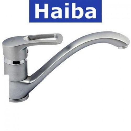 Смеситель для кухни елка литая HAIBA HANSBERG SATIN (Chr-012)