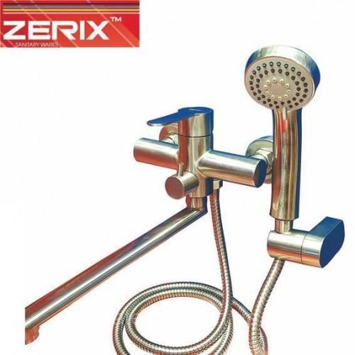 Смеситель для ванны длинный нос ZERIX LR72203 Euro (нержавейка)      5.00 1