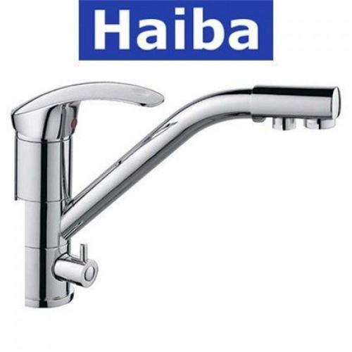 Смеситель для кухни елка с дополнительным краном HAIBA Mars (Chr-021)