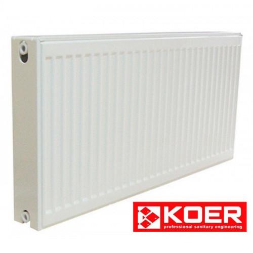 Стальной радиатор Koer 500/1400 тип 22 нижн.подкл. Чехия