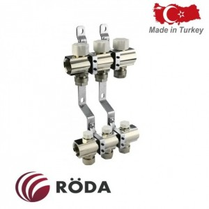 Группа коллекторная Roda с зап. и термо клапанами 6 выходов
