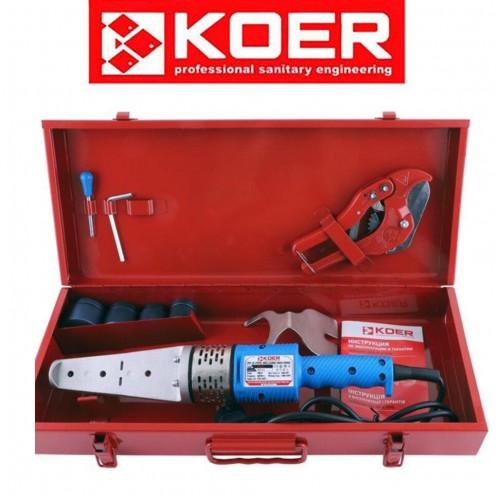 Паяльник для полипропиленовой трубы KOER SET-01 (700Вт, 4 насад., ножницы)