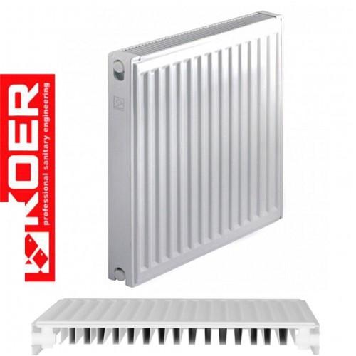 Стальной радиатор Koer 11 500*1100 Чехия (боковое подключение)