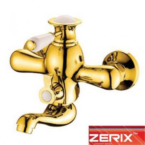 Смеситель для ванны короткий нос Zerix 3017-4 Euro (Chr-009) (Золото)