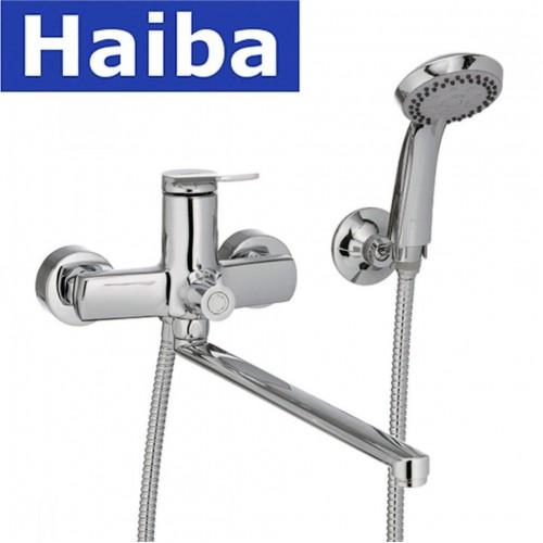 Смеситель для ванны длинный нос HAIBA NOVAK EURO (Chr-006)