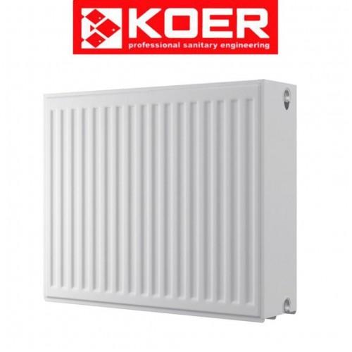 Стальные радиаторы Koer 33 тип 500*1500 Чехия (боковое подключение)