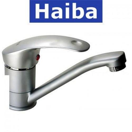 Смеситель для кухни елка на шпильке 25см HAIBA MARS SATIN (Chr-004)