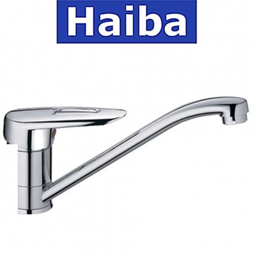 Смеситель для кухни елка на шпильке 25см HAIBA DISK (Chr-004)