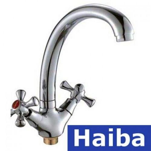 Смеситель для умывальника на гайке HAIBA SMES (Chr-273)