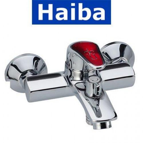 Смеситель для ванны короткий нос HAIBA MAGIC RED EURO (Chr-009)