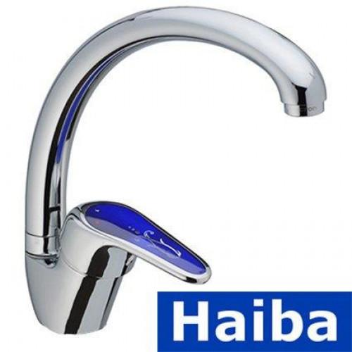 Смеситель для кухни Ухо HAIBA MAGIC BLUE (Chr-011)