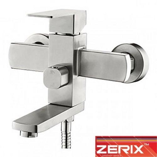 Смеситель для ванны короткий нос ZERIX LR73233 Euro (нержавейка)