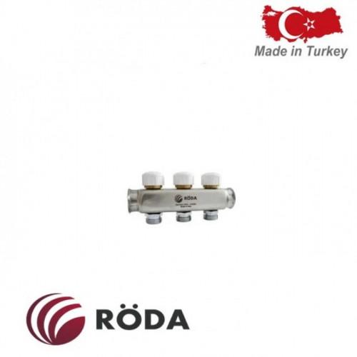 Коллектор распределительный Roda с термоклапаном 8 выходов